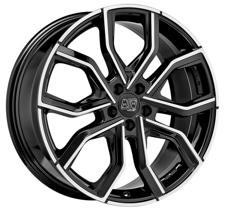 MSW 41 8x19 5/114,3 ET 45 GLOSS BLACK FULL POLISHED