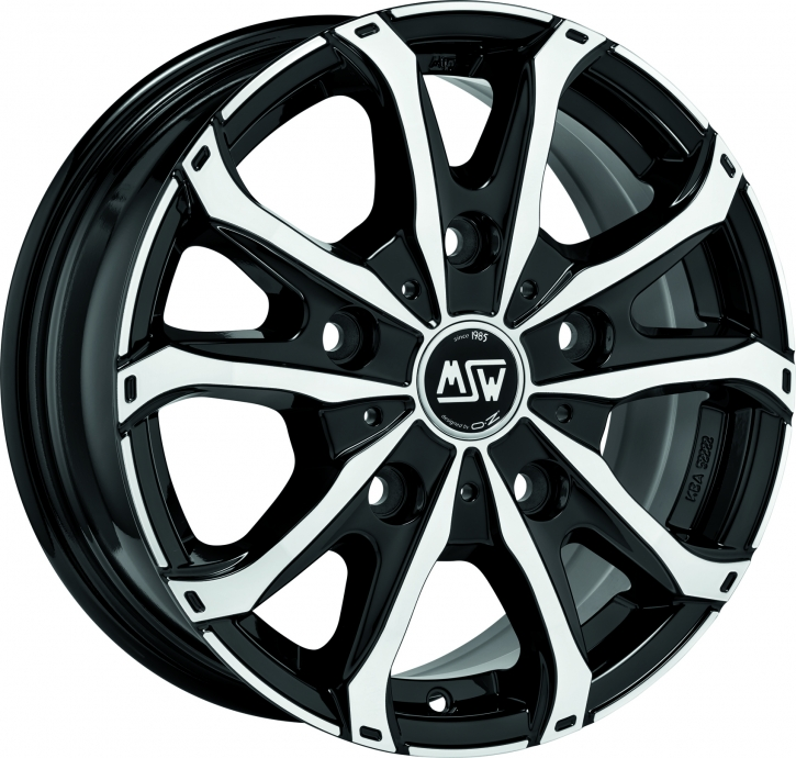 MSW 48 VAN 6,5x16 5/118 ET 55 GLOSS BLACK FULL POLISHED