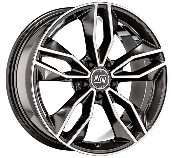 MSW 71 7,5x17 5/105 ET 38 GLOSS DARK GREY FULL POLISHED