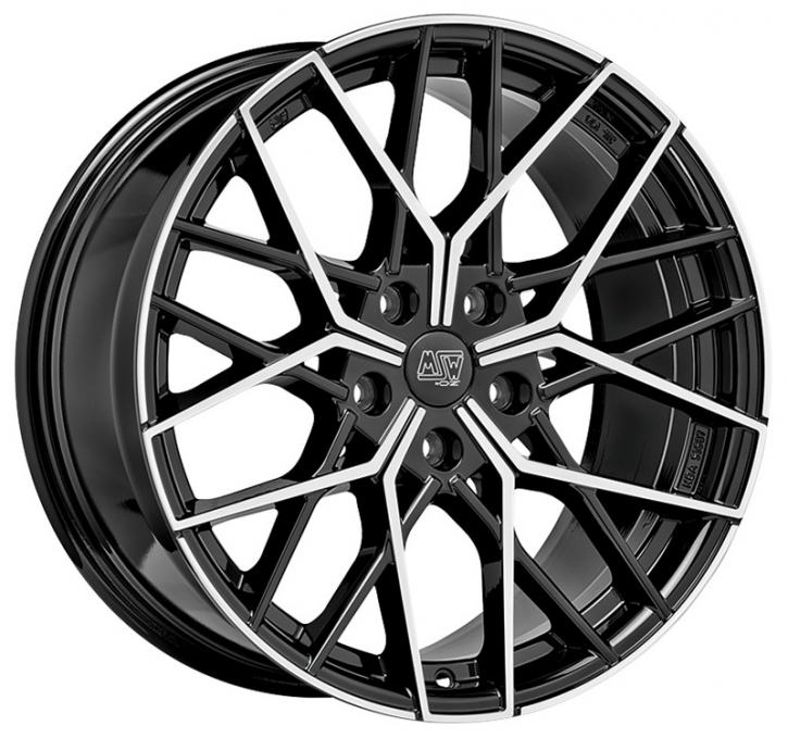 MSW 74 8,5x20 5/114,3 ET 45 GLOSS BLACK FULL POLISHED
