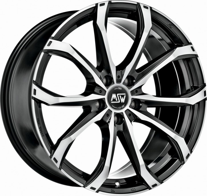 MSW 48 7,5x17 5/118 ET 42 GLOSS BLACK FULL POLISHED