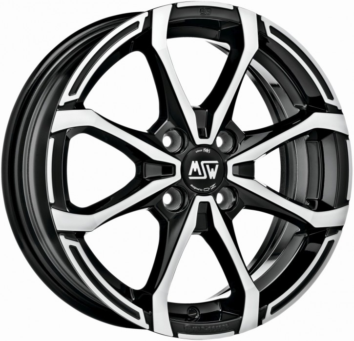 MSW X4 5,5x14 4/108 ET 43 GLOSS BLACK FULL POLISHED