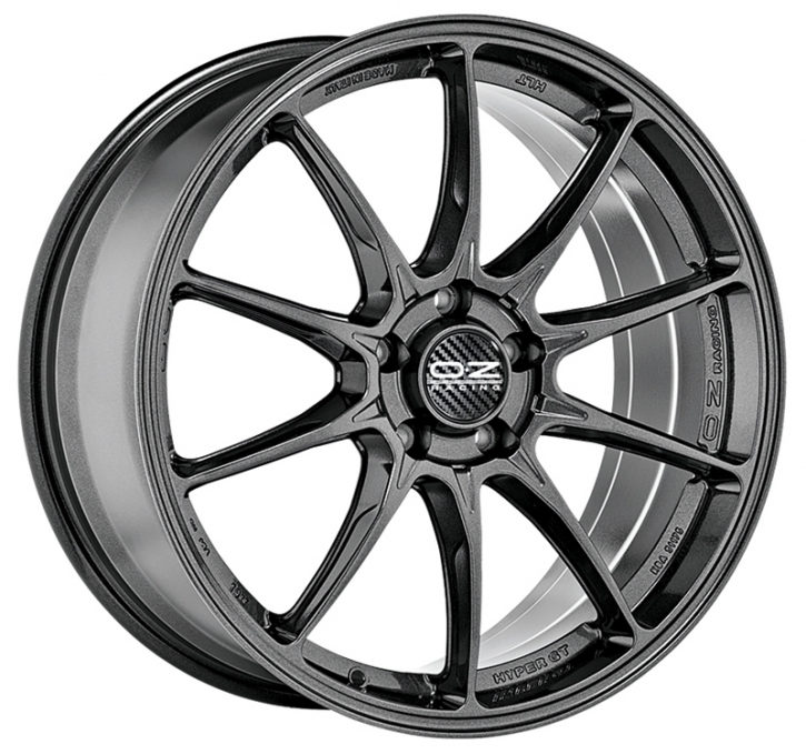 OZ HYPER GT 8x19 5/105 ET 40 STAR GRAPHITE