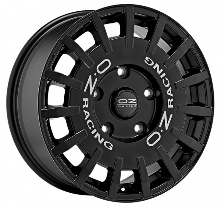 OZ RALLY RACING 7,5x18 5/160 ET 48 MATT BLACK+SIL.LETT.