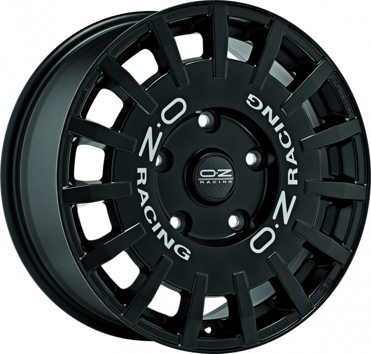 OZ RALLY RACING VAN 7,5x18 5/160 ET 48 MATT BLACK+SIL.LETT.