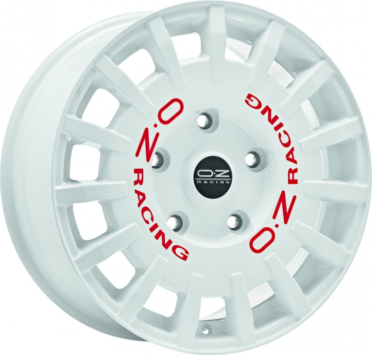 OZ RALLY RACING VAN 7,5x18 5/160 ET 48 WHITE + RED LET.