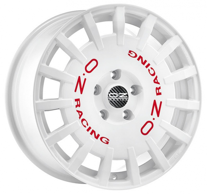 OZ RALLY RACING 7x17 4/108 ET 18 WHITE + RED LET.