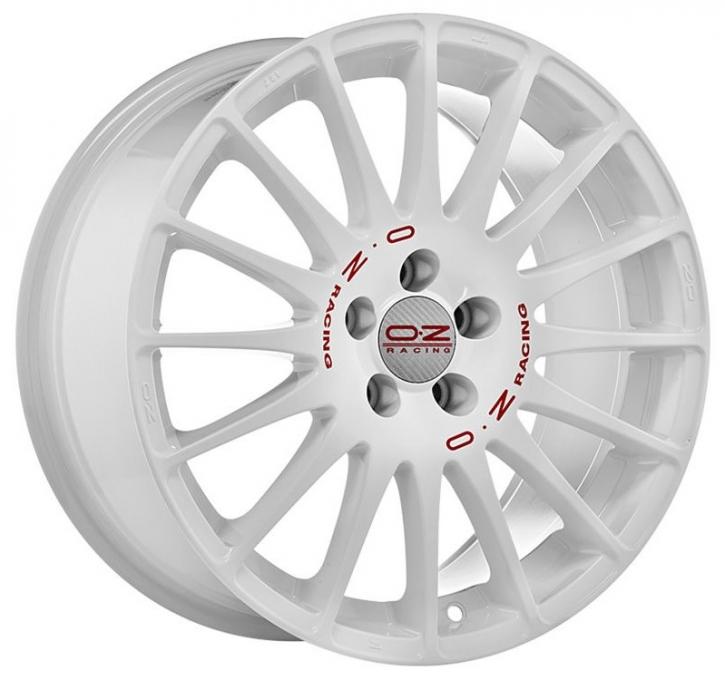 OZ SUPERTURISMO WRC 7x16 4/114,3 ET 42 WHITE + RED LET.