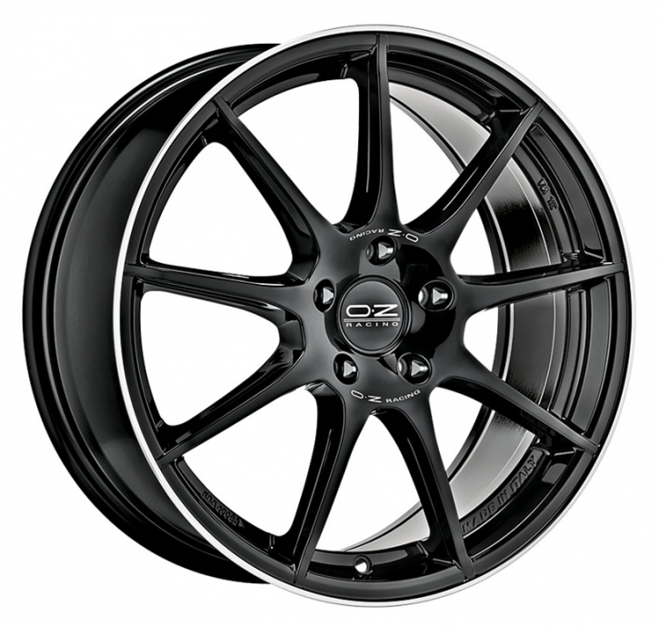 OZ VELOCE GT 7,5x17 5/114,3 ET 45 GLOSS BLACK D. CUT+SI