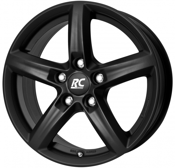 RC Design RC24 6.5x16 5/105 ET 39 Schwarz Klar Matt (SKM)