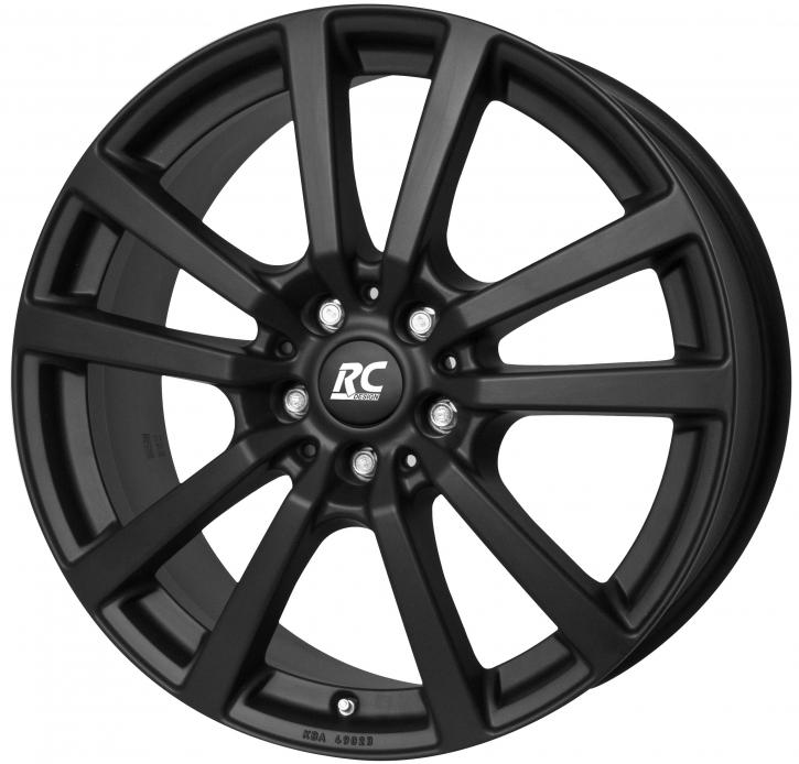 RC Design RC25T 6.5x16 5/118 ET 48 Schwarz Klar Matt (SKM)