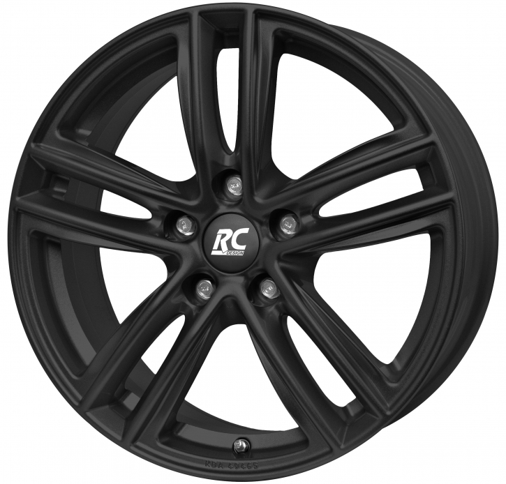 RC Design RC27 7.5x17 5/105 ET 44 Schwarz Klar Matt (SKM)
