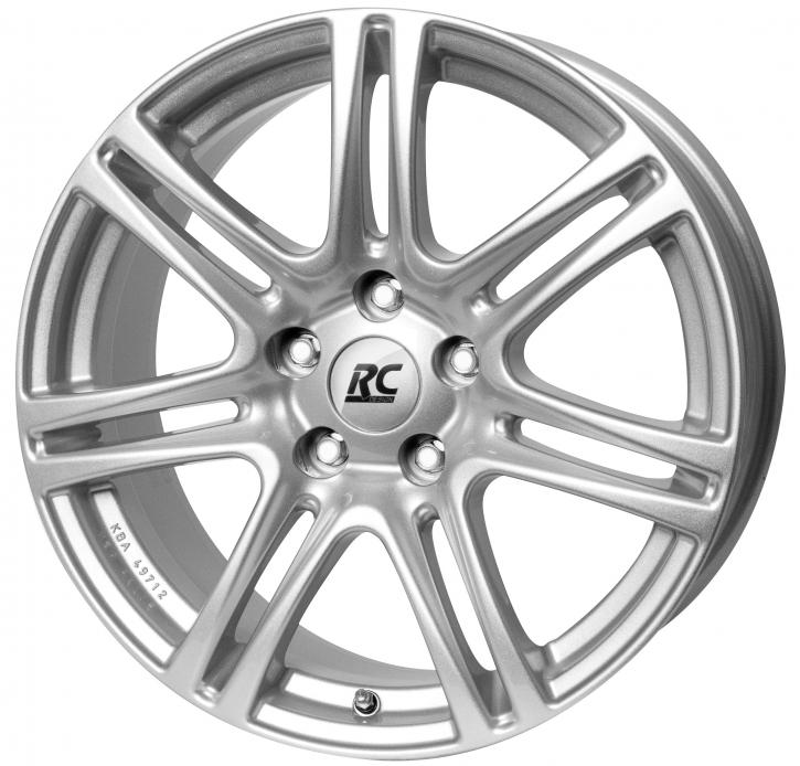 RC Design RC28 7.5x17 4/108 ET 15 Kristallsilber (KS)