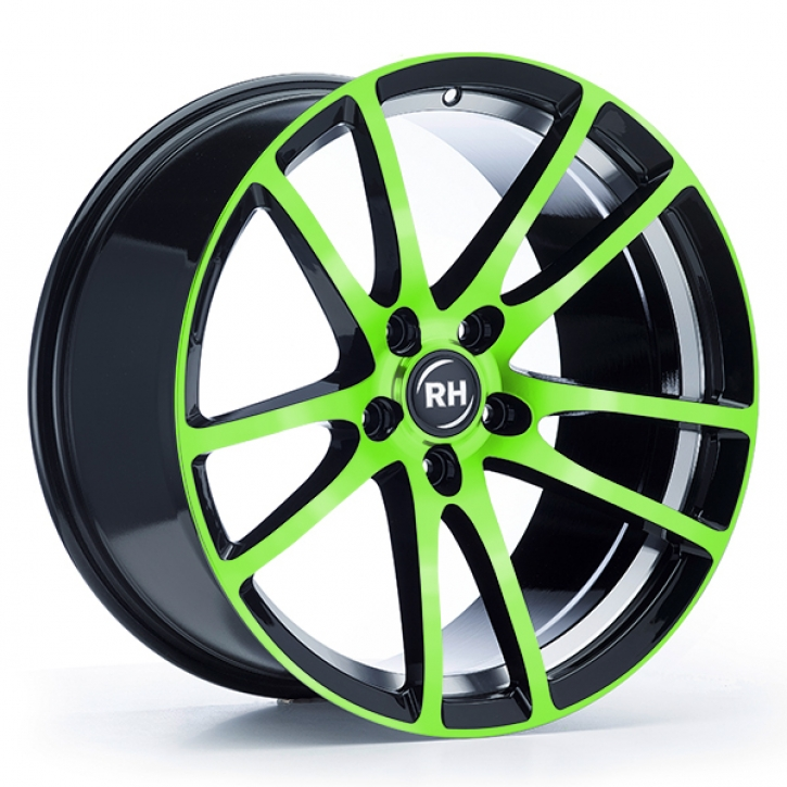 RH BO Flowforming 8,5x19 5/108 ET 45 color polished - green