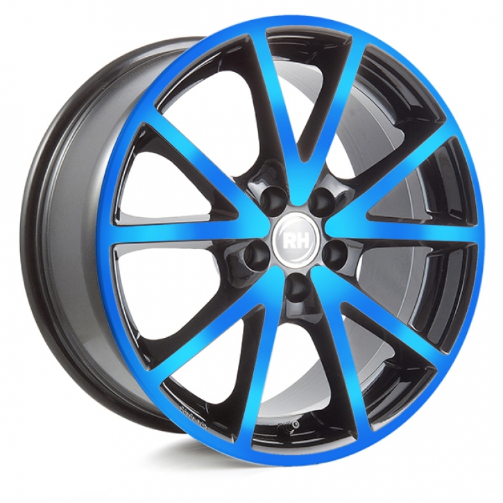 RH DE Sports 8x18 5/108 ET 45 color polished - blue