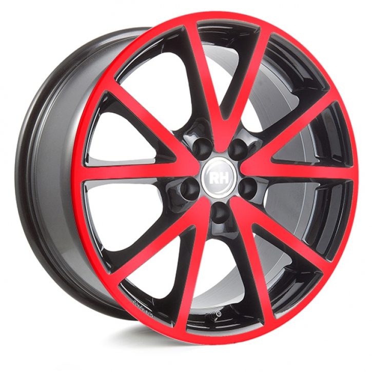 RH DE Sports 8x18 5/108 ET 45 color polished - red