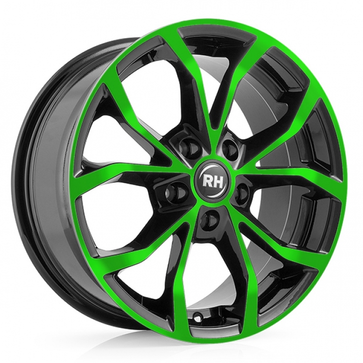 RH DF Energy 8x17 5/114 ET 45 color polished - green