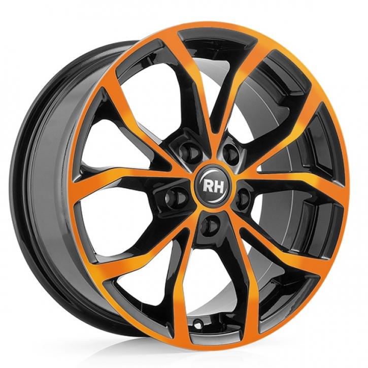 RH DF Energy 8x18 5/114 ET 45 color polished - orange
