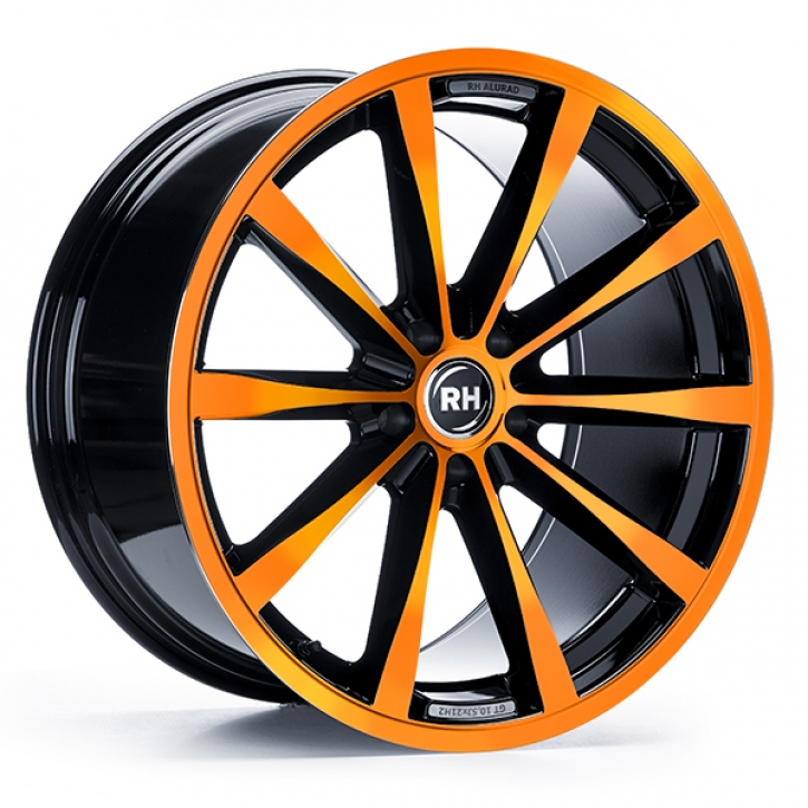 RH GT 8x18 5/105 ET 45 color polished - orange