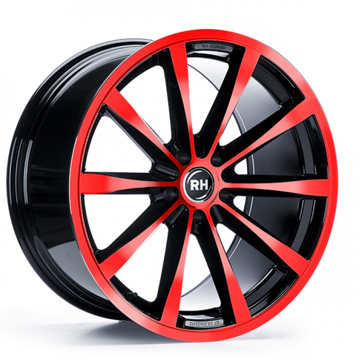 RH GT 8x17 5/105 ET 45 color polished - red