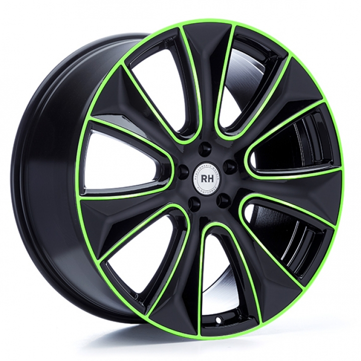 RH NAJ II 8x18 5/108 ET 45 color polished - green