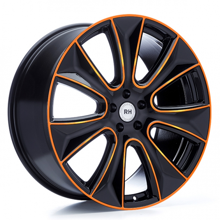 RH NAJ II 8x18 5/108 ET 45 color polished - orange