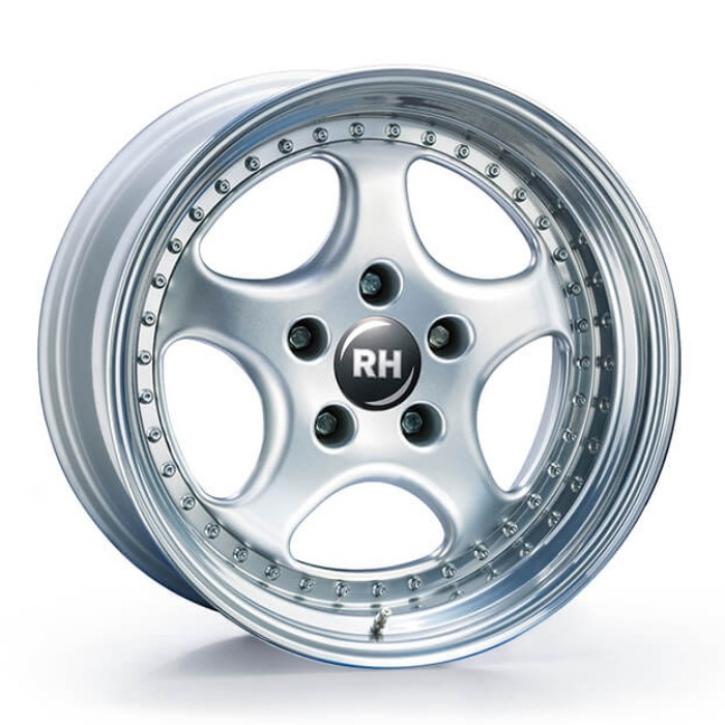 RH P Rad 9,5x18 5/130 ET 59 schwarz/Horn hochgl.pol.