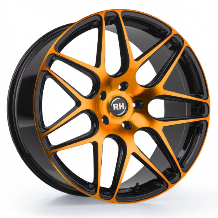 RH RB11 10x22 5/114 ET 35 color polished - orange
