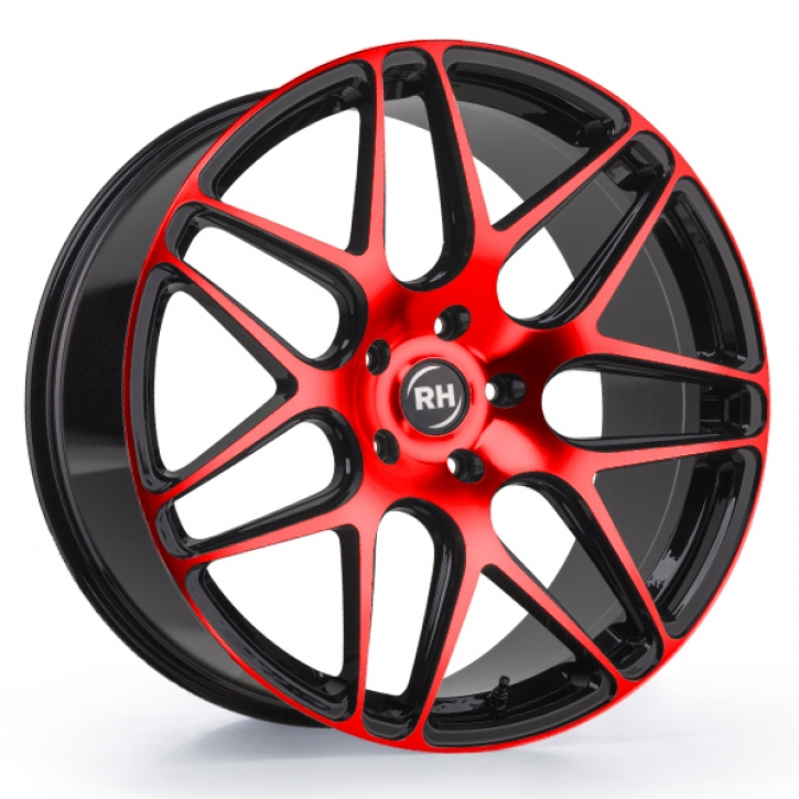 RH RB11 10x22 5/114 ET 35 color polished - red