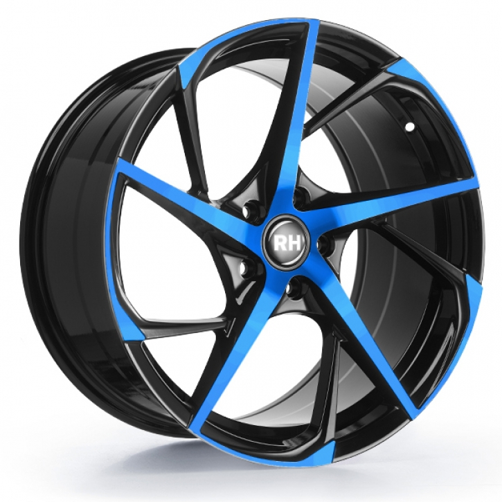 RH RB12 9,5x19 5/120 ET 40 color polished - blue