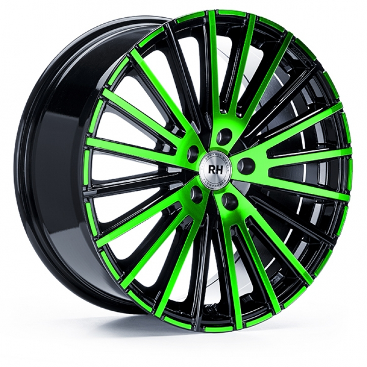 RH WM Flowforming 8x17 5/108 ET 35 color polished - green
