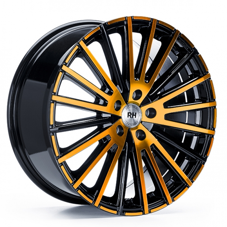 RH WM Flowforming 8x17 5/108 ET 45 color polished - orange