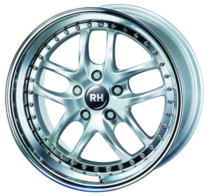 RH ZW6 Prestige 8x17 5/112 ET 60 silber/Horn Edelstahl
