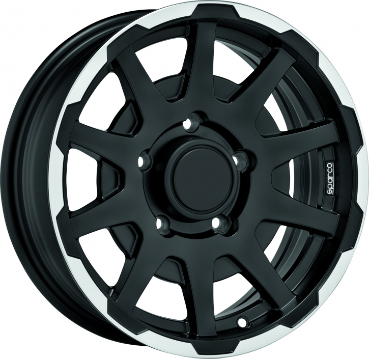Sparco DAKAR 5,5x16 5/139,7 ET 0 MATT BLACK LIP POLISHED