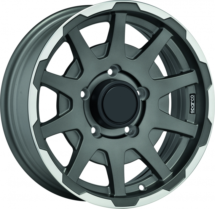 Sparco DAKAR 5,5x16 5/139,7 ET 0 MATT DARK GREY LIP POLISHED