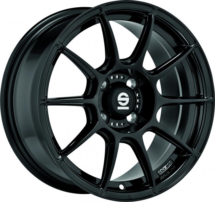 Sparco FF1 7x17 4/108 ET 25 GLOSS BLACK