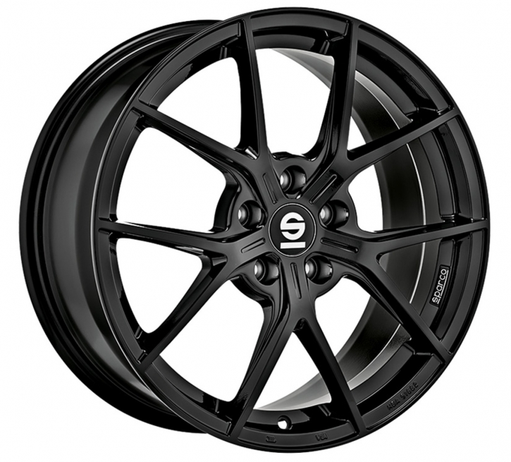 Sparco PODIO 8,5x19 5/112 ET 38 GLOSS BLACK