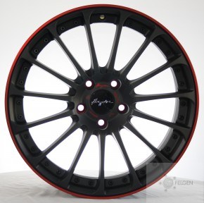 Breyton Magic CW 7,5x18 4-100 ET 48 Matt Grey with Red Anodized Lip