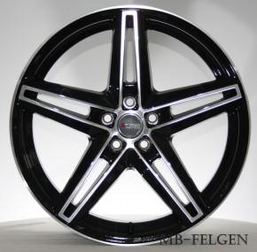 XTRA Wheels SW4 8x18 5/120 ET 35 Schwarz voll poliert