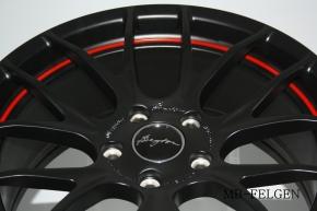 Breyton Race GTS-R 7,0x18 4-100 ET 40 Matt Black with Red Undercut Area