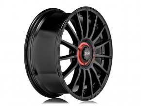 OZ SUPERTURISMO EVOLUZIONE 8,5x20 5/112 ET 30 GLOSS BLACK+RED LET.